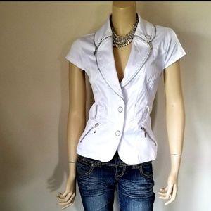 NWT Stuning Blazer Jacket Short Sleeves  L